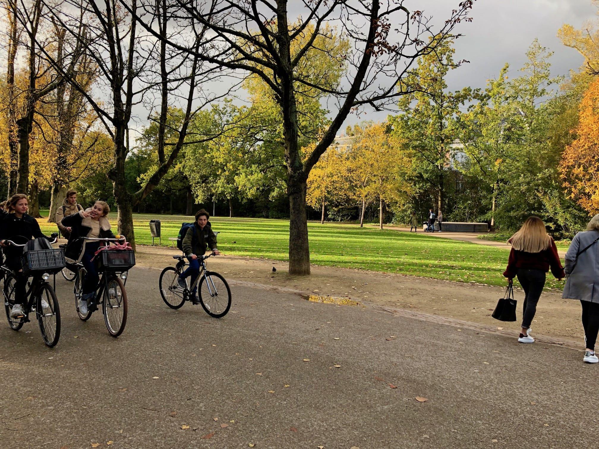 Vondelpark bike riders